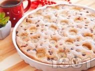 Рецепта Лесен сладкиш / кекс с банани, фурми и орехи